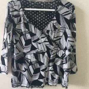 axcess from Liz Claiborne black and white top
